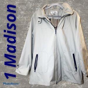 1 Madison Short Rain Trench with Hood, XL